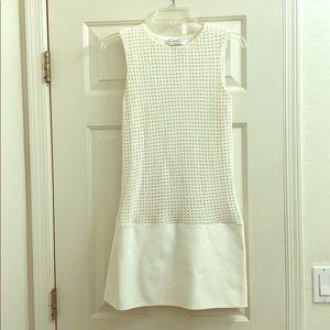 Bailey/44 white mixed media dress sz small